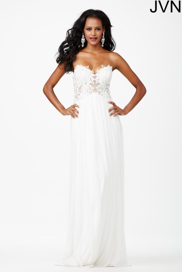 Strapless Lace JVN by Jovani Dress JVN30805