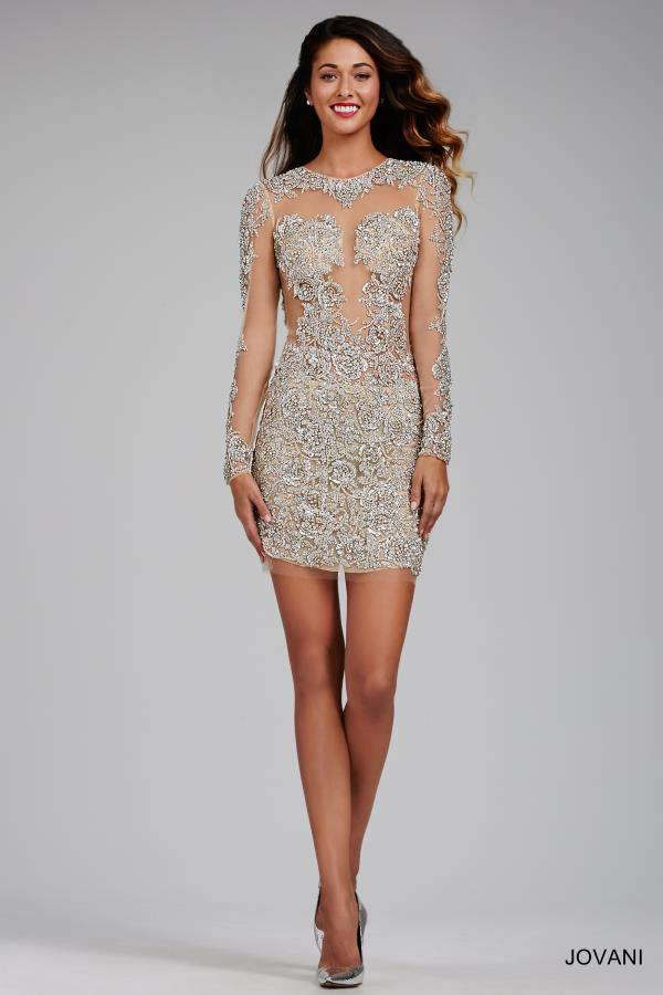 Sexy Beaded Jovani Cocktail Dress 21531