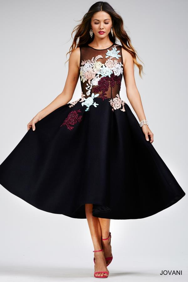 Gorgeous Black Jovani Cocktail Dress 23695