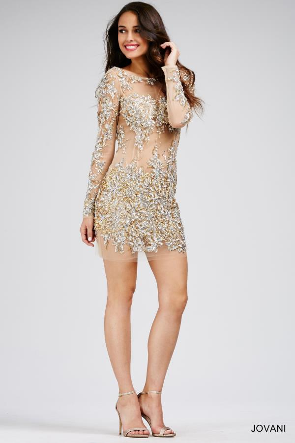 Sexy Beaded Jovani Cocktail Dress 99022