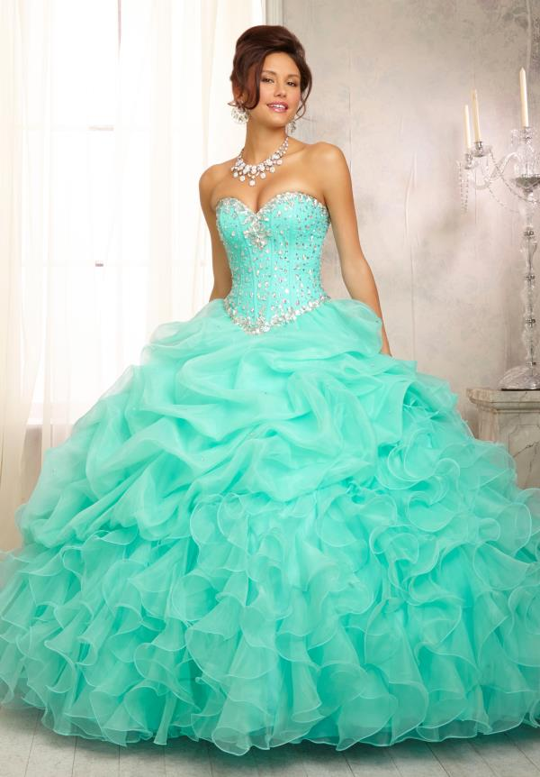 Vizcaya Quinceanera Ruffled Skirt Dress 88083