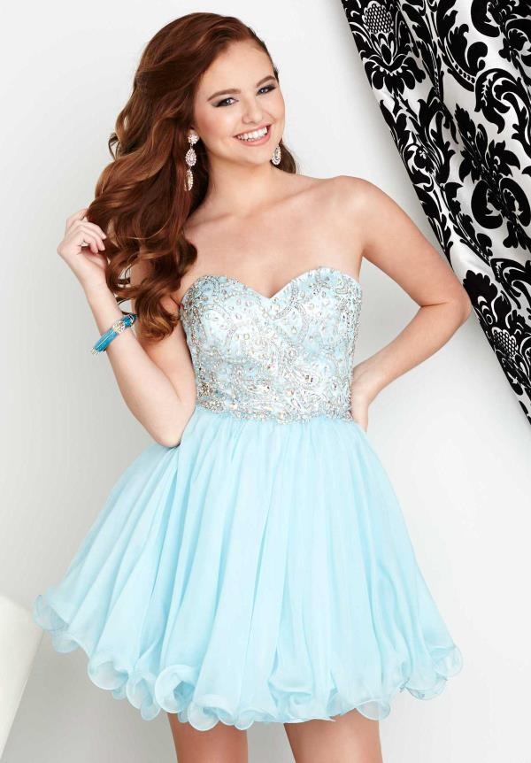 Strapless Beaded Hannah S Dress 27039