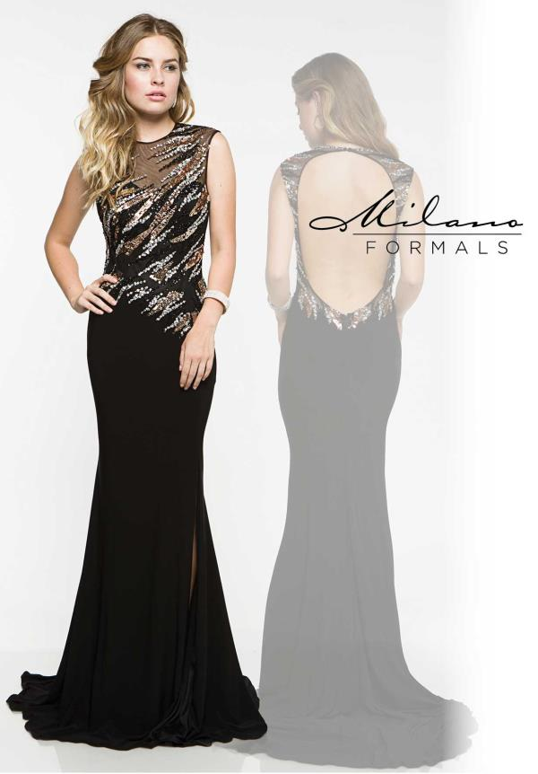 Milano Formals Open Back Fitted Dress E1843