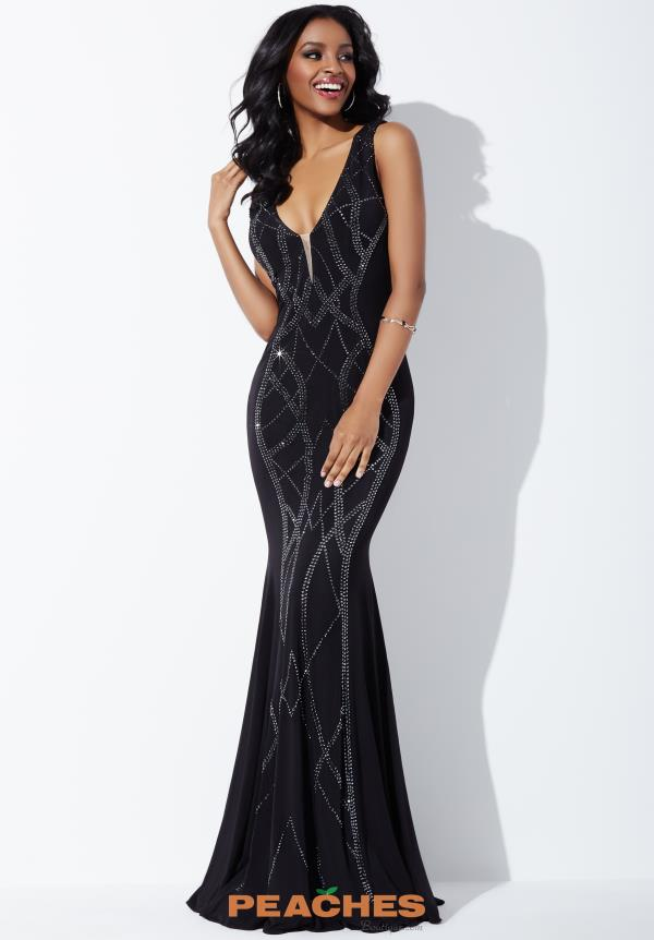 Jovani V- Neckline Fitted Dress 24980