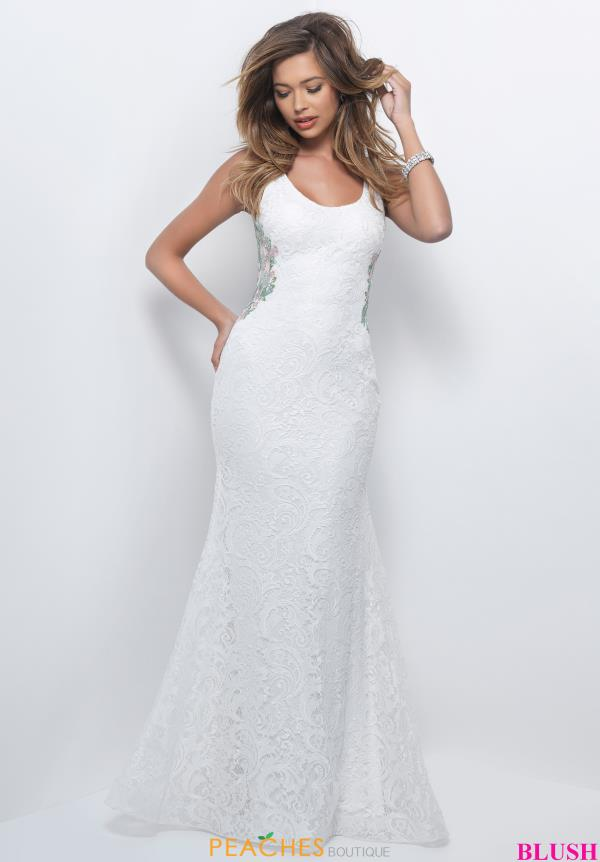Long Lace Beaded Dress 11204