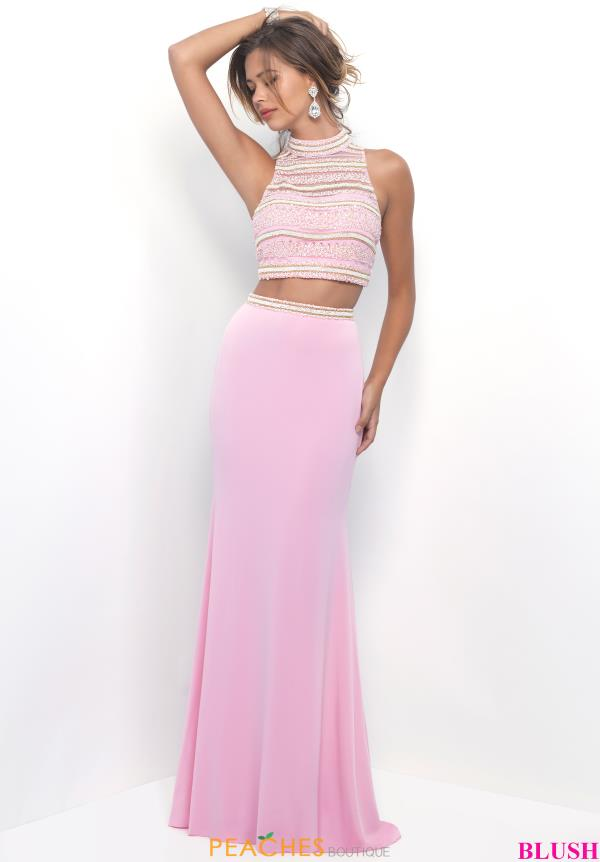 Blush Long Fitted Dress 11230