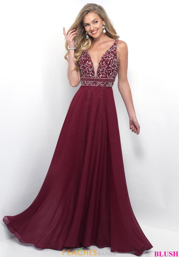 Beaded Blush V Neck Dress 11257