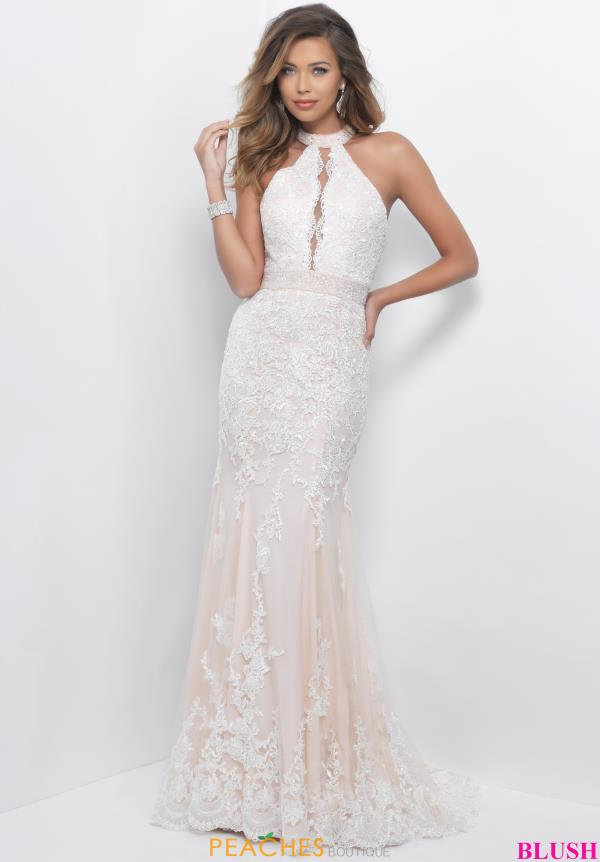 Blush Beaded Lace Dress 11263