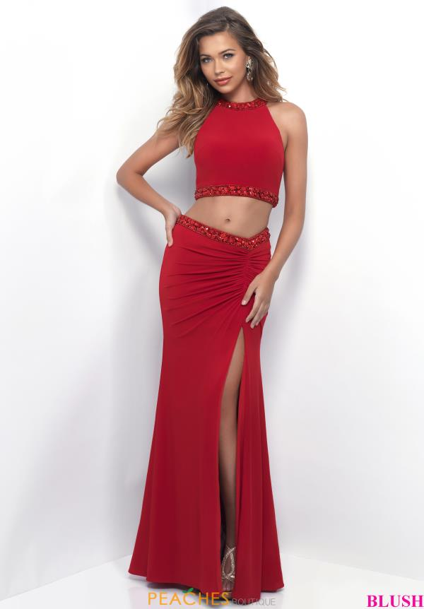 Blush Fitted Two Piece Dress 11284