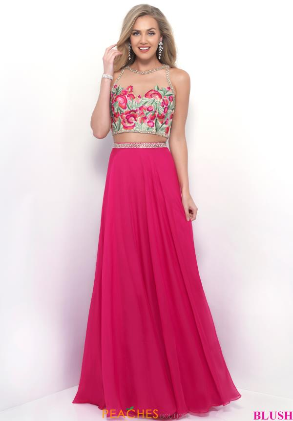 High Illusion Blush Embroidered Dress 11310