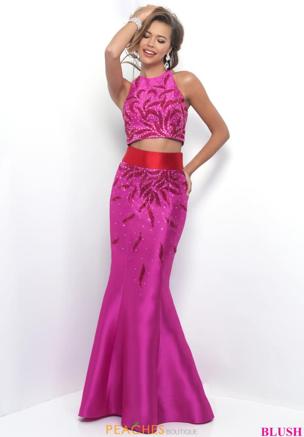 Blush Long Mermaid Dress 11319