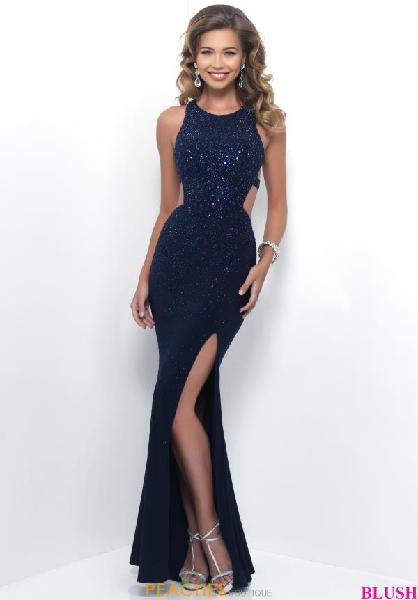 Beaded Blush Jersey Dress 11326