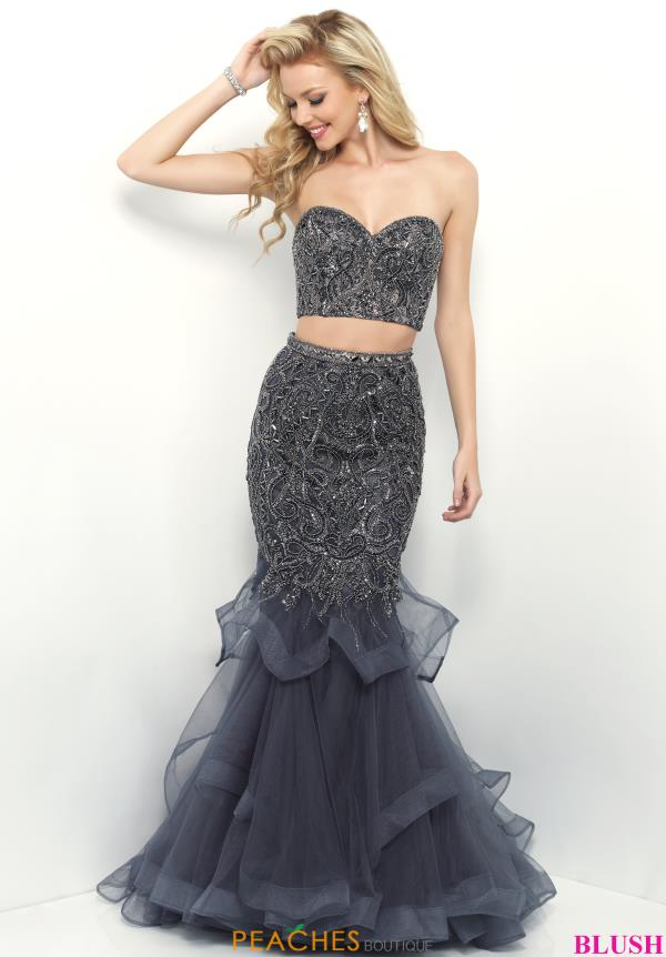 Blush Mermaid Tulle Dress 11339