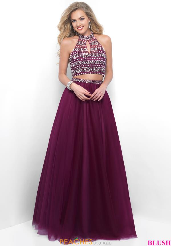 Blush Ball Gown Beaded Dress 5609