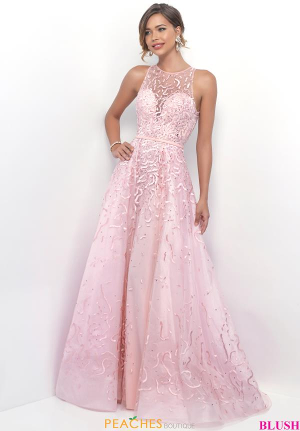 Blush A Line Beaded Dress 5614