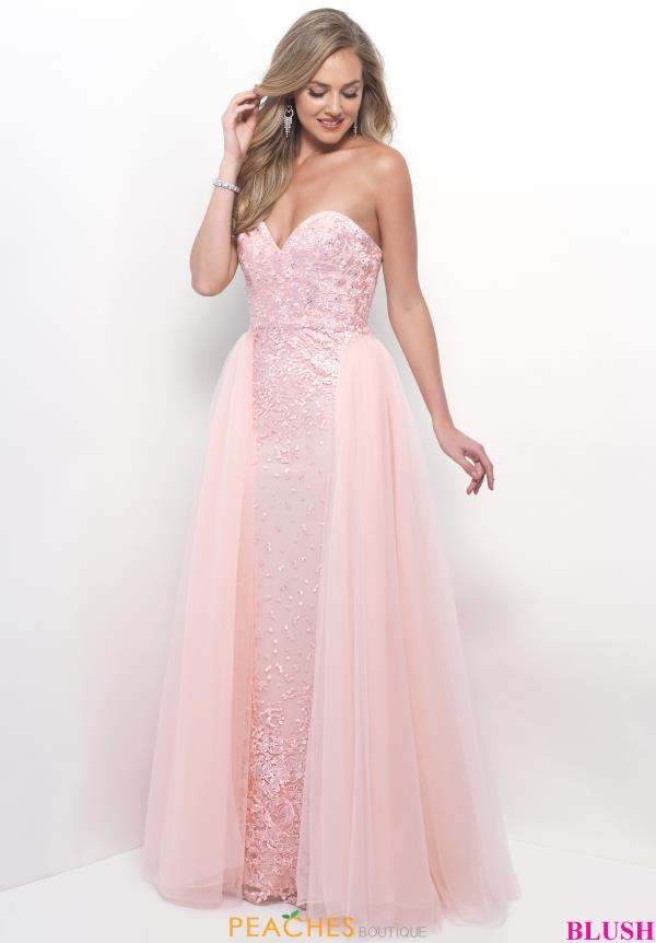 Blush Fitted Lace Dress 7104