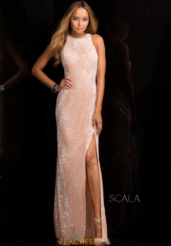 Scala Fitted Long Dress 48665
