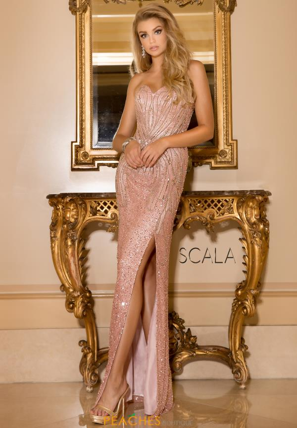 Scala Beaded Long Dress 48673