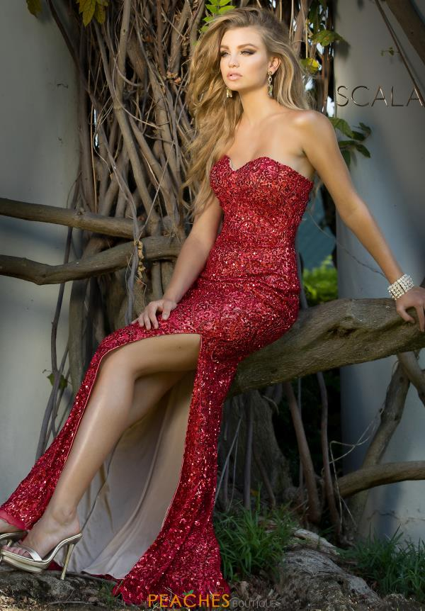 Strapless Long Scala Dress 48674