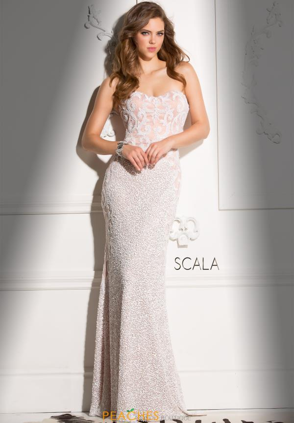 Scala Sweetheart Neckline Beaded Dress 48680