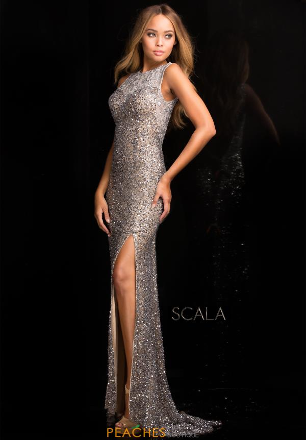 Beaded Long Scala Dress 48694
