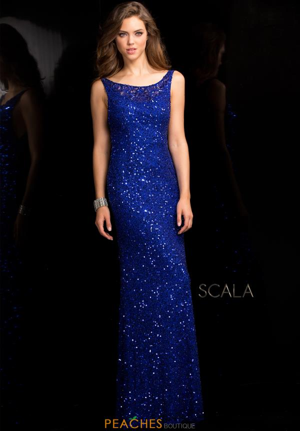 Scala High Neckline Beaded Dress 48700