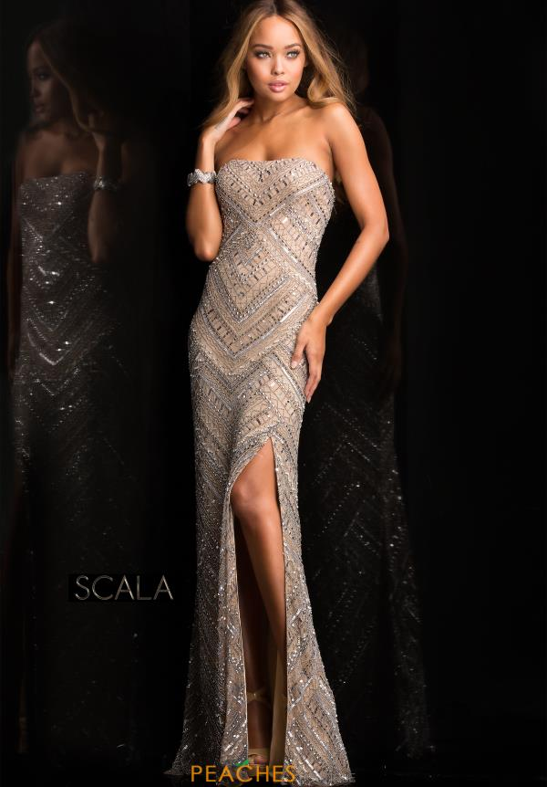 Strapless Fitted Scala Dress 48705
