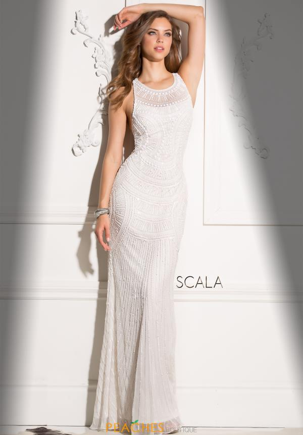 Scala High Neckline Long Dress 48714