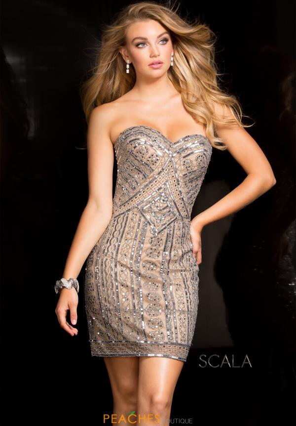 Scala Sweetheart Neckline Beaded Dress 48735