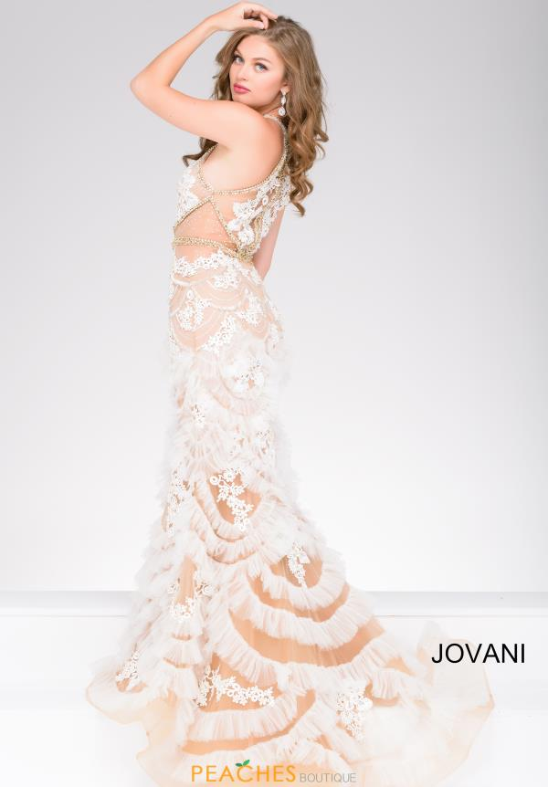 Jovani Halter Neckline Fitted Dress 41593