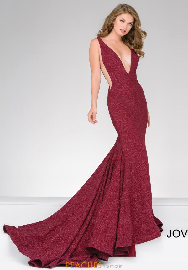 V- Neckline Fitted Jovani Dress 47075