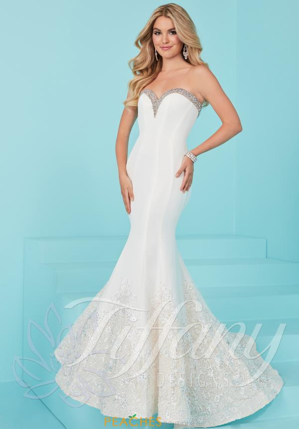 Strapless Fitted Tiffany Dress 16214