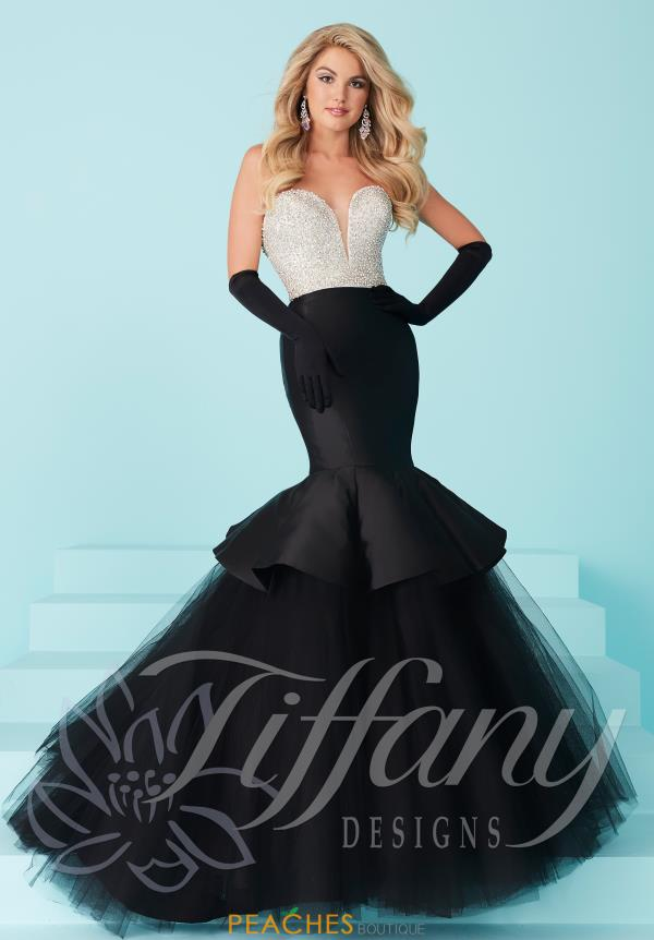Strapless Beaded Tiffany Dress 16217