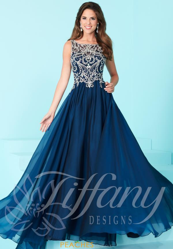 Tiffany Long Chiffon Dress 16222