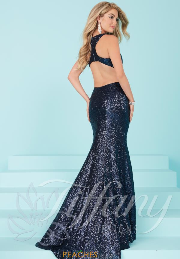 Tiffany Long Sequins Dress 16226