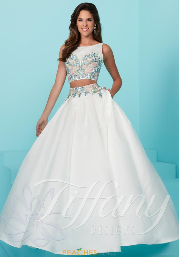 Tiffany Ivory A Line Dress 16228