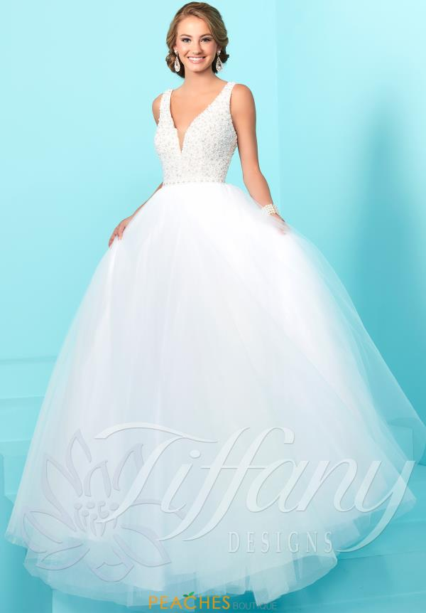 Tiffany Tulle A Line Dress 16241