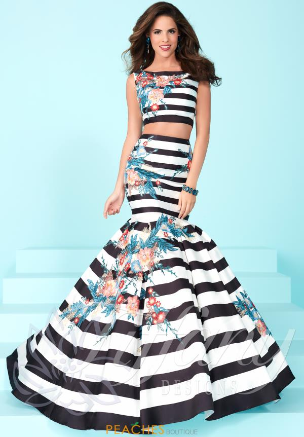 Two Piece Print Tiffany Dress 16250