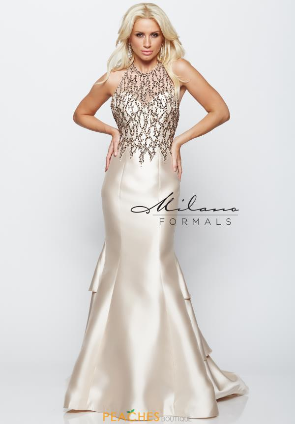 Milano Formals Beaded Long Dress E2090