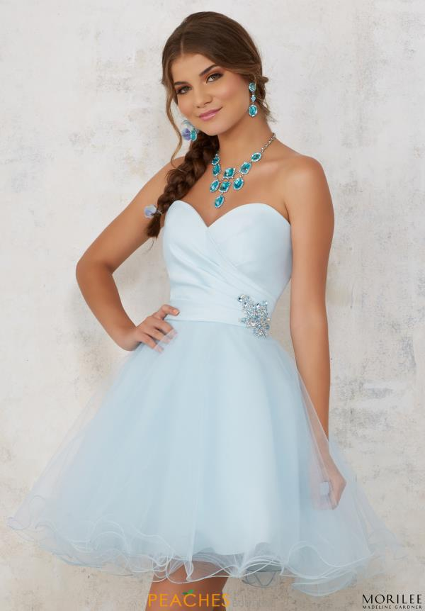 Sweetheart Neckline A Line Mori Lee Sticks & Stones Dress 9441