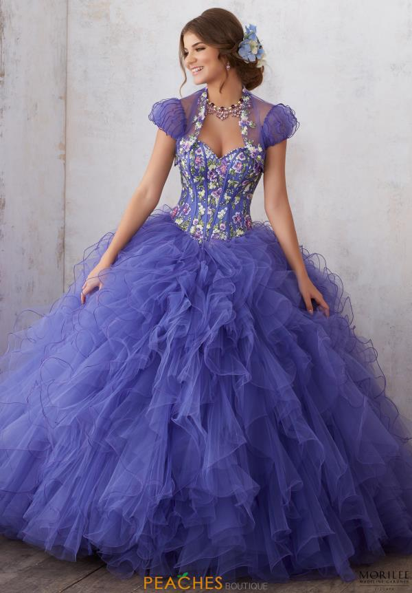Vizcaya Beaded Ball Gown Dress 89121