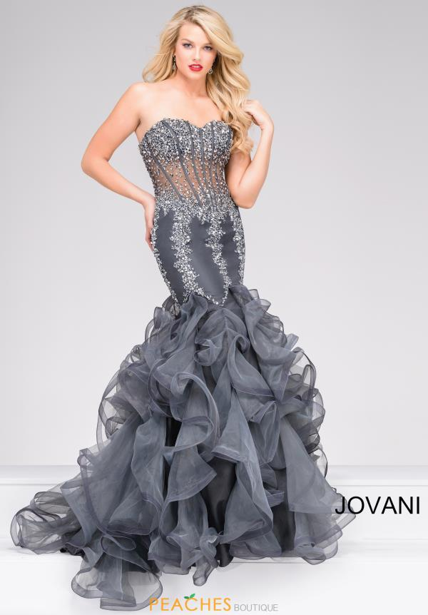 Jovani Mermaid Beaded Dress 42883