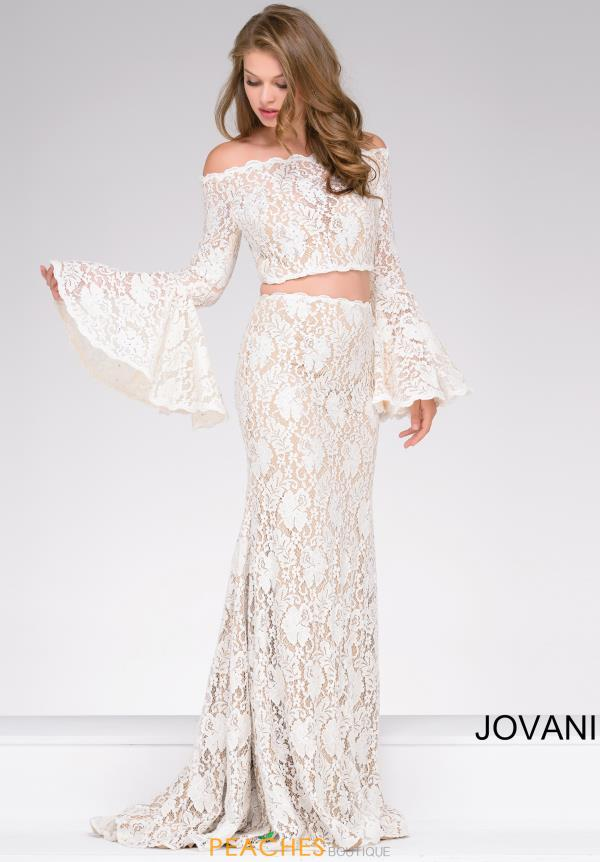 Jovani Two Piece Lace Dress 45894