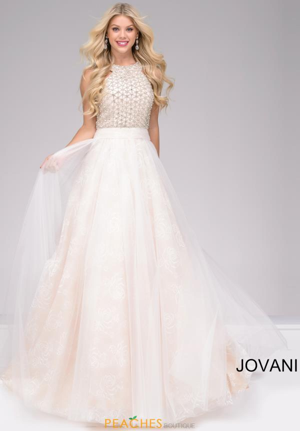 Jovani A Line Tulle Dress 47300