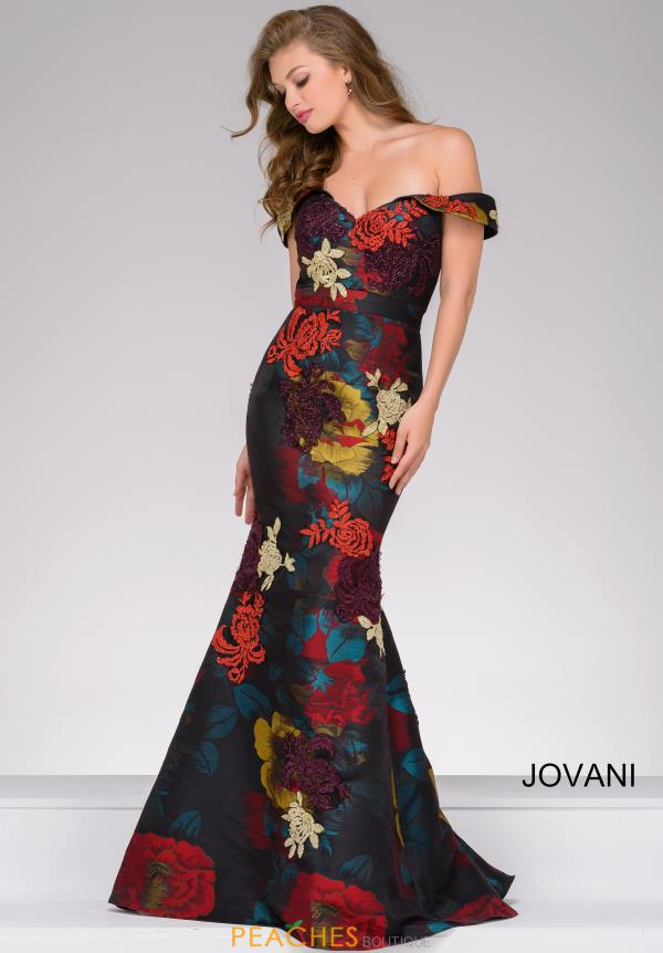 Jovani Mermaid Cap Sleeve Dress 47698