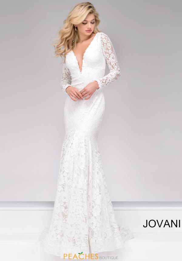 Jovani Sleeved  Long Dress 50026