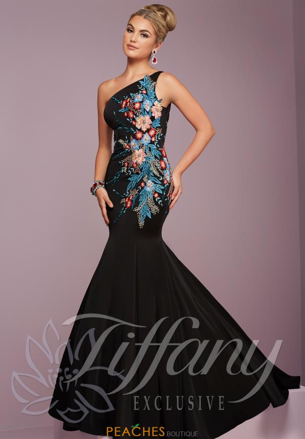 Tiffany One Shoulder Fitted Dress 46110