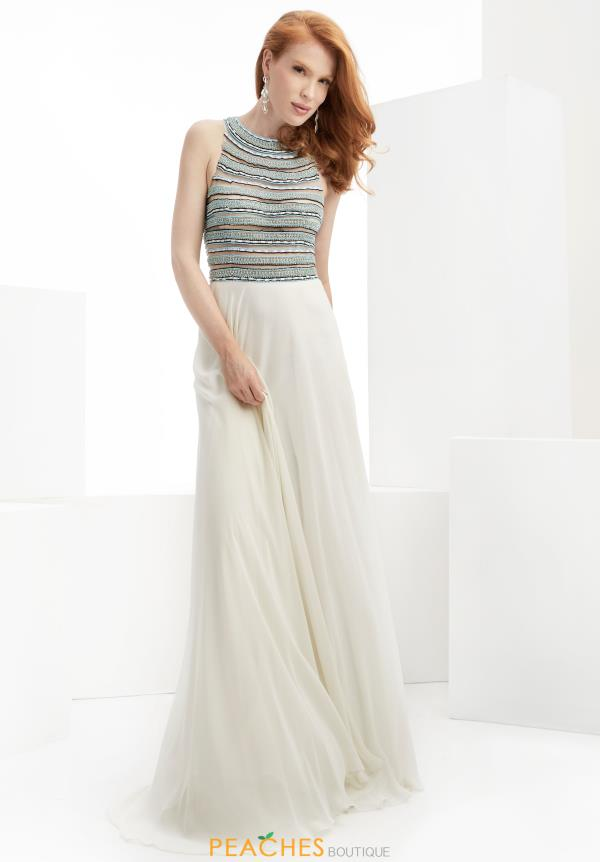 Beaded A Line Jasz Couture Dress 5904