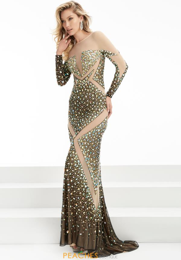 Long Beaded Jasz Couture Dress 5906