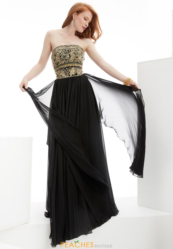 Strapless Black Jasz Couture Dress 5915